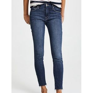 Mother Looker ankle fray jeans in Girl Crush